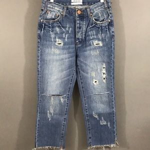 One Teaspoon Hooligans Pacifica Crop Jeans